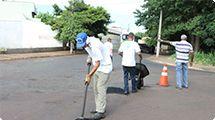 Opera��o Tapa-Buracos concentrou atendimento no Planalto Verde nesta quinta-feira